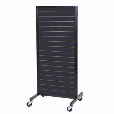 Black Framed Slatwall 2-Way Merchandiser