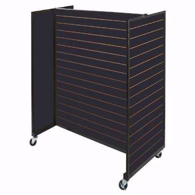 Black Framed Slatwall Gondola Merchandiser