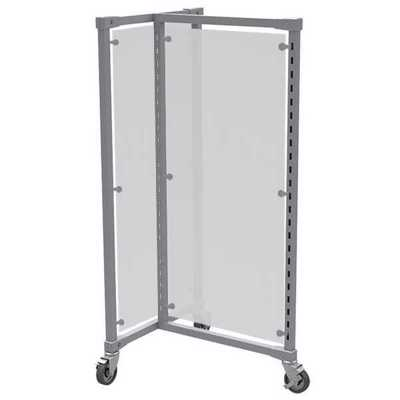 3-Way Rack Frosted Acrylic Panels