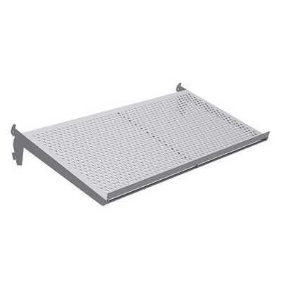 Adjustable Perforated Metal Shelf