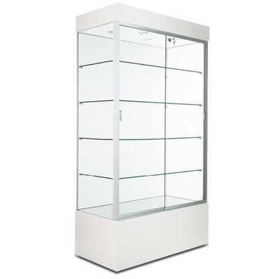 Rectangular Wall Display Case WHITE