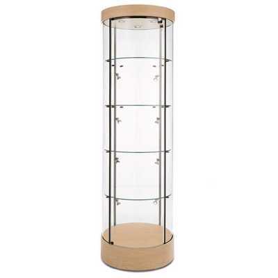 Round Tower Display Case MAPLE