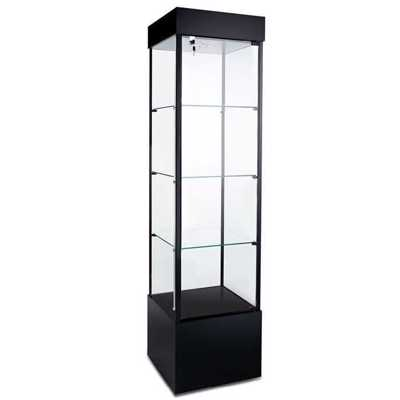 Square Tower Display Case BLACK